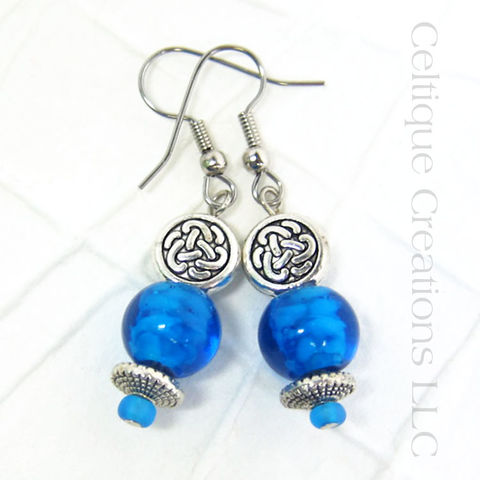 Celtic,Knot,Blue,and,Silver,Handmade,Earrings,Fashion,Jewelry,Celtic Knotwork Earrings, Celtic Earrings, Celtic Fashion Earrings, Handmade Celtic Earrings, Fashion Jewelry, Fashion Earrings, Celtic Knot Jewelry, Blue and Silver, Handmade Earrings, Handmade Jewelry, Pewter Jewelry, Celtique Creations