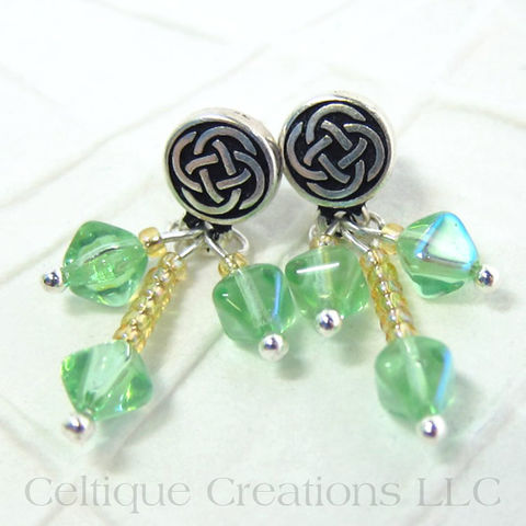 Celtic,Knot,Stud,Dangle,Earrings,Handmade,Green,and,Yellow,Celtic Earrings, Celtic Stud Earrings, Celtic Dangle Earrings, Celtic Fashion Jewelry, Celtic Knot Handmade Earrings, Handmade Celtic Earrings, Fashion Jewelry, Celtic Jewelry, Spring Jewelry, Easter Jewelry, Easter Earrings, Celtique Creations