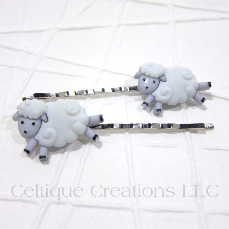 Sheep Handmade Bobby Pins - product images  of
