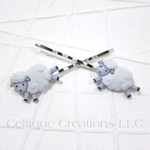 Sheep,Handmade,Bobby,Pins,Sheep Bobby Pins, Lamb Bobby Pins, Sheep Hair Accessories, Bobby Pins, Hair Pins, Hair Accessories, Handmade, Celtique Creations