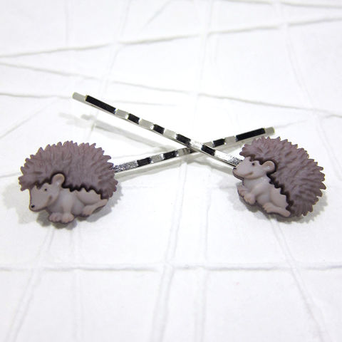 Hedgehog,Handmade,Bobby,Pins,Hair,Accessories, Hedgie, Bobby Pins, Hair Pins, Hair Accessories, Handmade, Forest Animals, Garden Animals, Celtique Creations