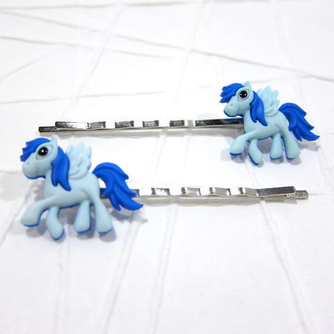 Blue,Magic,Pony,Pegasus,Bobby,Pins, Magic Pony, Pony, Flying Pony, Blue Pony, Bobby Pin, Hair Pin, Hair Accessories, Mythology, Fantasy, Handmade, Celtique Creations