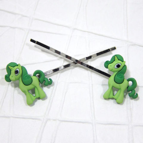 Unicorn Magic Pony Green Bobby Pins Handmade - product images  of