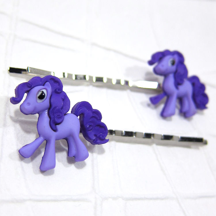 Purple Magic Pony Bobby Pins Handmade - product images  of