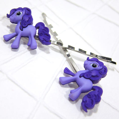 Purple,Magic,Pony,Bobby,Pins,Handmade, Magic Pony, Purple Pony, Pony Hair Pins, Bobby Pins, Hair Accessories, Handmade, Cute, Adorable, Cartoon, Celtique Creations