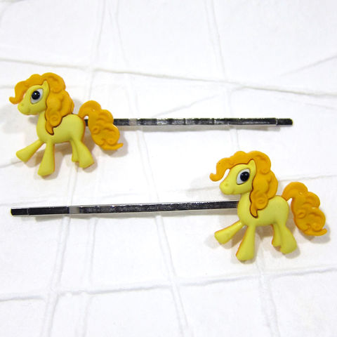 Yellow,Magic,Pony,Bobby,Pins,Handmade, Magic Pony, Yellow Pony, Pony Hair Pins, Bobby Pins, Hair Accessories, Handmade, Cute, Adorable, Cartoon, Celtique Creations