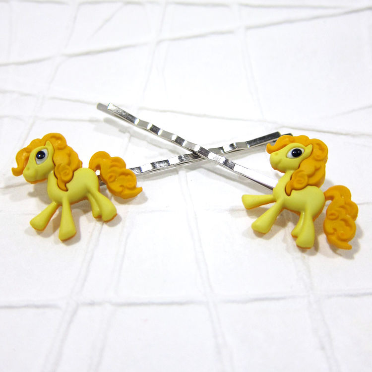 Yellow Magic Pony Bobby Pins Handmade - product images  of