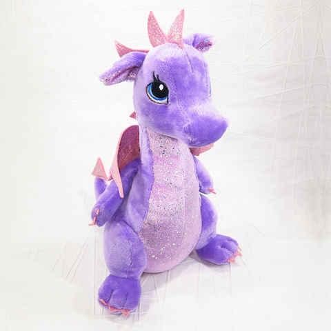 Larkspur,Purple,Dragon,Stuffed,Animal,Fantasy,Soft,Toy,Aurora, Dragon Stuffed Animal, Dragon Soft Toy, Sparkle Tales, Larkspur, Purple Dragon, Sparkle, Sparkly, Aurora, Celtique Creations