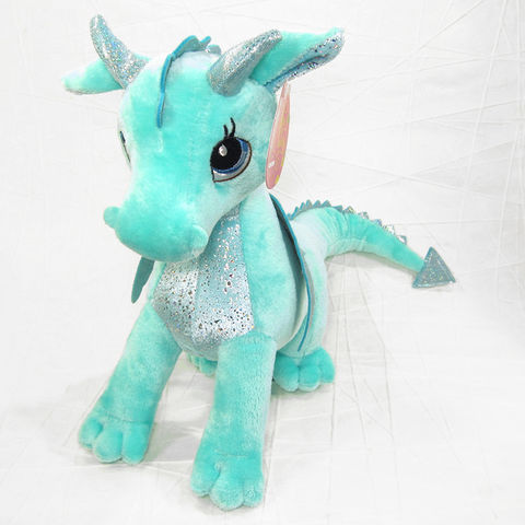 Willow,Dragon,Stuffed,Animal,Mint,Green,Soft,Toy,Aurora, Mint Green Dragon, Girl Dragon, Sparkly Dragon, Dragon Stuffed Animal, Dragon Soft Toy, Sparkle Tales Dragon, Aurora