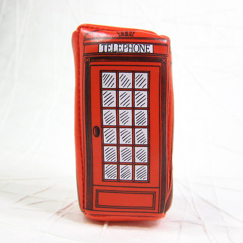 UK,Telephone,Booth,3D,Coin,Purse,UK Telephone Booth, British Telephone Booth, Red Telephone Booth, Red Phone Booth, Phone Booth, Coin Purse, Coin Pouch, Zippered Pouch, Pouch, Purse