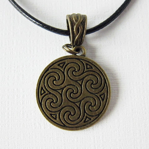 Bronze,Entwined,Triskelion,Necklace,Celtic Necklace, Triskelion Necklace, Triskele Necklance, Triple Spiral Necklace, Celtic Jewelry, Bronze Celtic Necklace, Bronze Celtic Jewelry, Handmade Celtic Jewelry, Celtique Creations