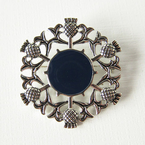 Scottish,Thistle,Enamel,Pewter,Brooch,Pin, Brooch, Pin, Celtic, Scottish Thistle, Scottish Flower, Enamel, Navy, Blue, Silver, pewter, Celtic Jewelry, Scottish Jewelry, Celtique Creations