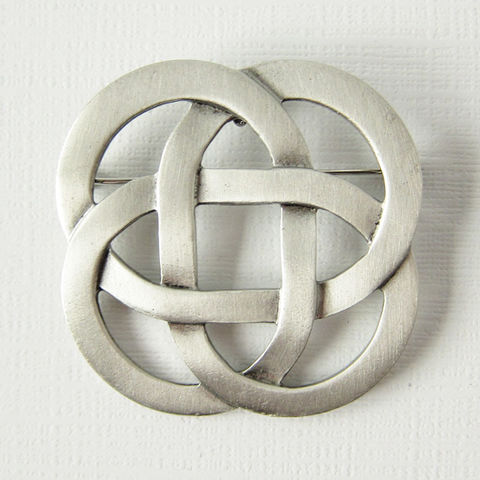 Celtic,Square,Knot,Pewter,Brooch,Pendant,Celtic Knot, Celtic Knotwork, Celtic Pin, Celtic Brooch, Knotwork Brooch, Celtic Jewelry, Knotwork Pendant, Made in the USA, Pewter Jewelry, Celtique Creations