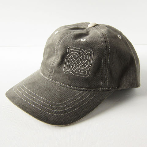 Celtic,Knot,Taupe,Twill,Baseball,Cap,Hat, Knot, Knotwork, Baseball, Hat, Cap, Twill, Taupe, Neutral, Brown, Gray, Embroidered, Celtiquecreations