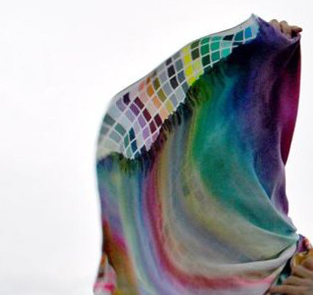 ‹FLUID COLOURS› SILK SCARF - product images  of