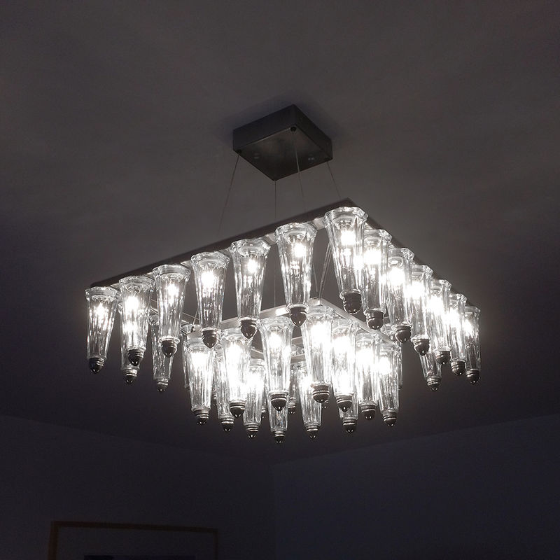 ‹OCTAMOON› DOUBLE STEEL FRAME CHANDELIER - product images  of