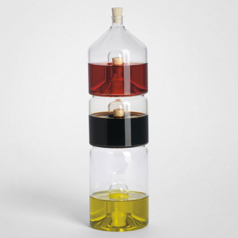‹VINEGAR,+,OIL,PLUS›,BY,°ES,ERMERT,SCHÄFER,carafe, glass, bowl, karaffe,  stapelbar, stacking, oil, vinegar, essig, öl, balsamico