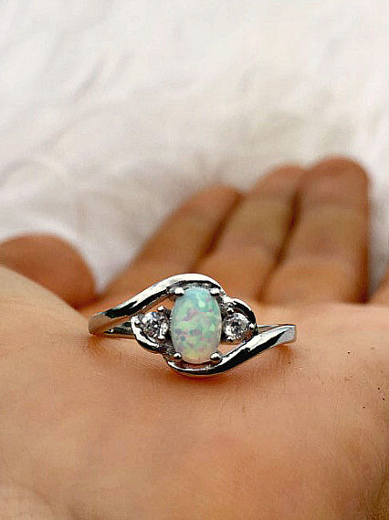 Tidal Waves Opal Ring - product images