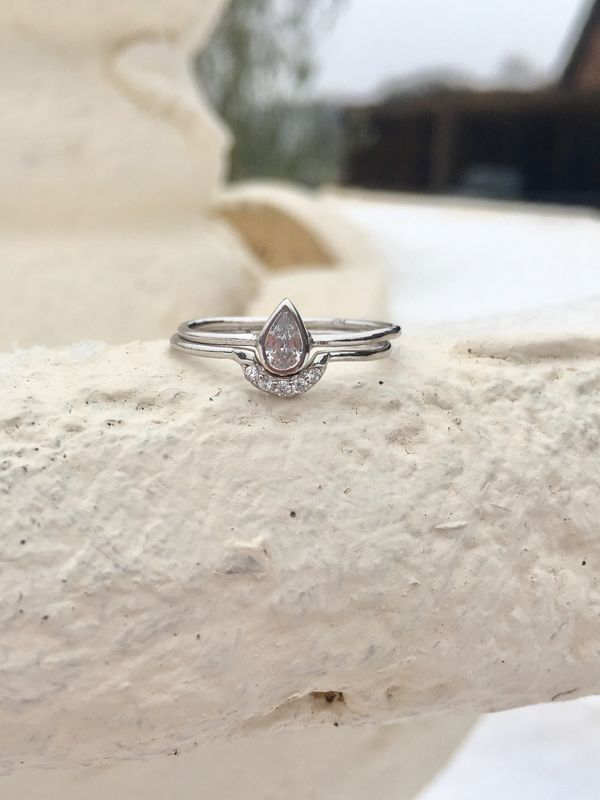 Morning Dew Sterling Silver Thumb Ring Set - product image