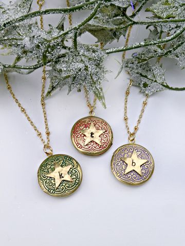 Personalised,Star,Locket