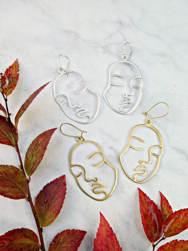 Picasso Statement Earrings - product image