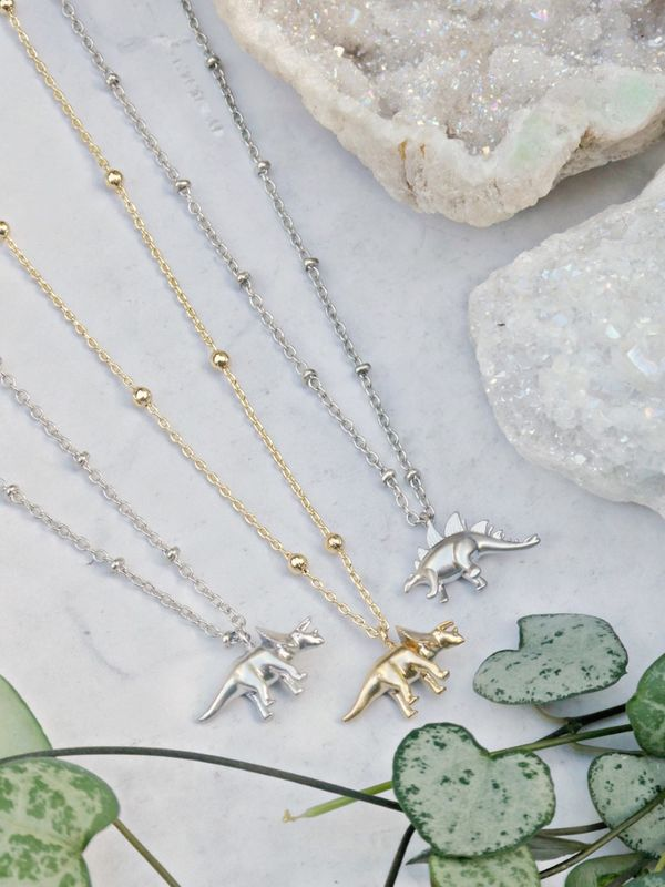 Small But Mighty Dinosaur Necklace Choice - product images