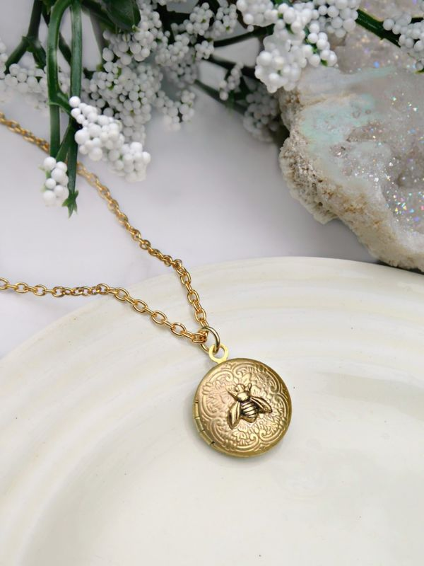 Miniature Honeybee Locket - product image