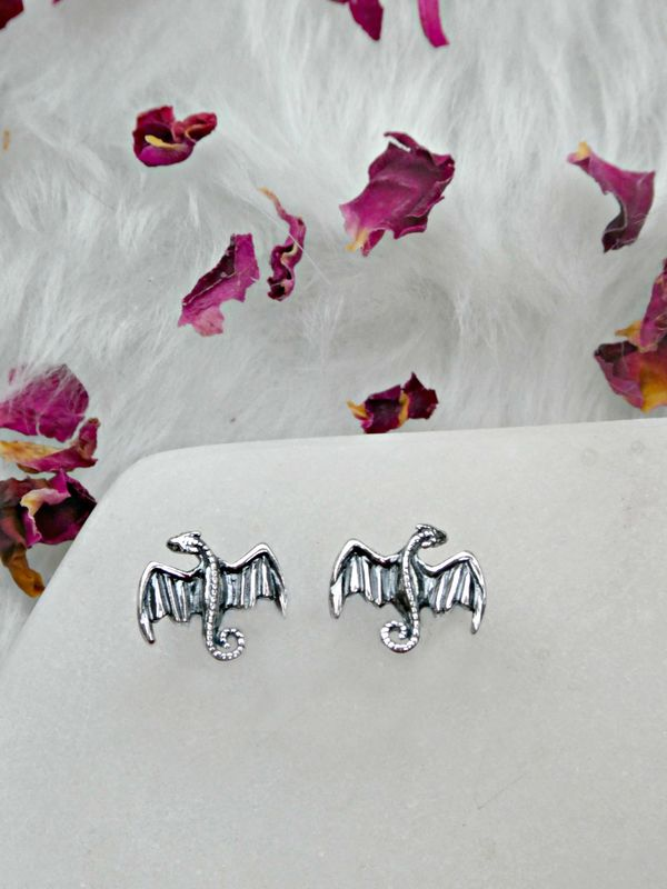 Sterling Silver Dracarys Studs - product image