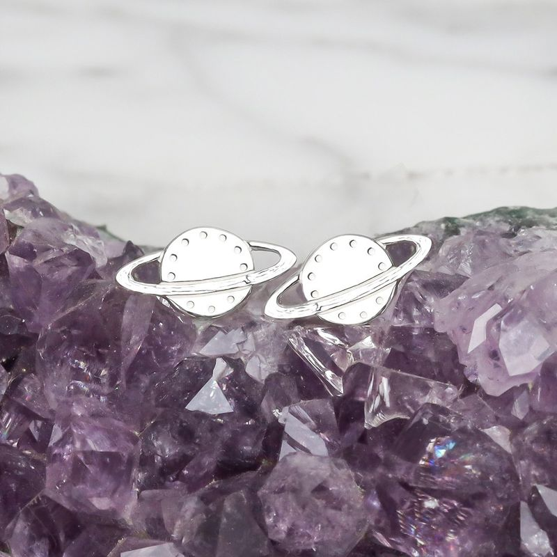Rings of Saturn Sterling Silver Earrings - product image