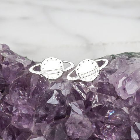 Rings,of,Saturn,Sterling,Silver,Earrings