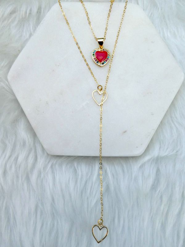Love In Bloom Enamel Earrings & Necklace - product image