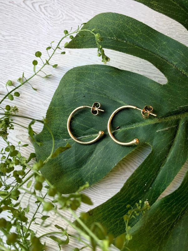 Simplicity Gold Filled Hoop Earrings - product images