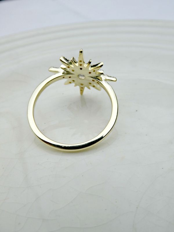 North Star Galaxy Opal 9ct Gold Vermeil Over Sterling Silver Ring - product image