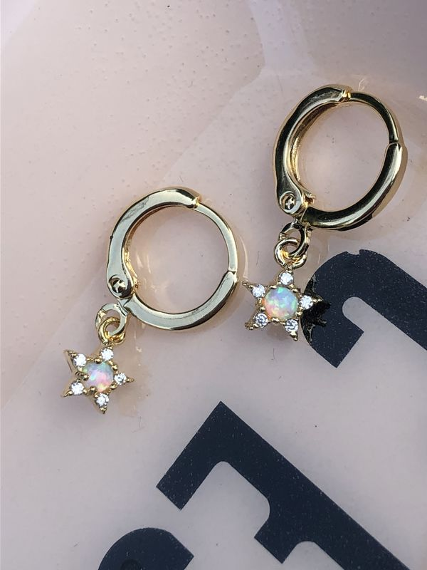 Twilight Zone Opal Hoop Earrings - product image