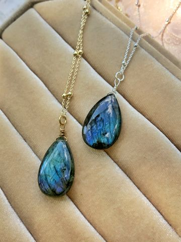 Deep,Lagoon,Labradorite,Necklace