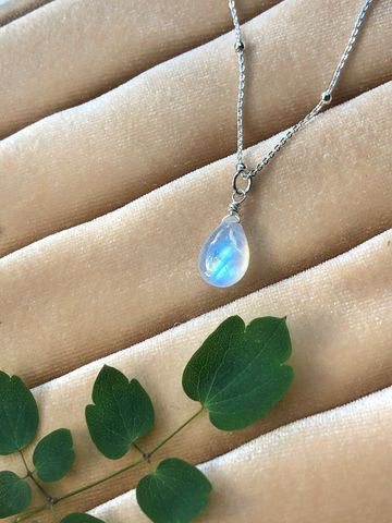 Angel,Tears,Rainbow,Moonstone,Necklace