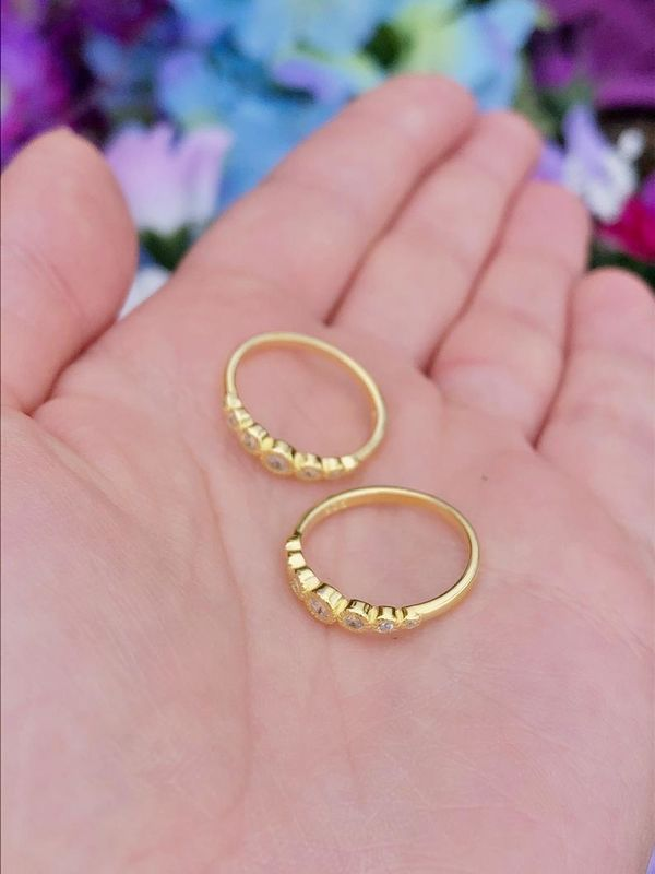 Constellations Dainty Gold Stacking Ring - product image