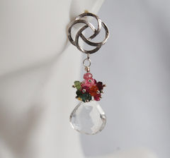 Gemstone,cluster,dangle,Earrings,-,Multi,Tourmaline,Dangle,earrings,Jewelry,cluster_earrings,gemstone_earrings,dangle_earrings,dangling_earrings,multi_tourmaline,tourmaline_earrings,for_her,christmas,holiday,feminine_earrings,ohcanadateam,cyber_monday_etsy,rock crystal quartz,sterling silver wire,m