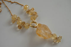 Beautiful,citrine,nugget,and,rondelles,necklace,Jewelry,Necklace,Locket,pendant,citrine_nugget,feminine,holiday,handmade,ohcanadateam,ferozasjewelery,elegant,citrine_necklace,nugget_necklace,gold_filled_necklace,cyber_monday_etsy,citrine nugget,gold filled wire