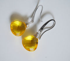 Gemstone,Yellow,Quartz,Dangle,Drop,sterling,silver,Earrings,Jewelry,gemstone_earrings,dangle_earrings,gemstone,dangling_earrings,yellow_earrings,wedding_jewelry,wedding_earrings,bridal_jewelry,bridal_earrings,bridesmaids_gift,for_her,christmas,cyber_monday_etsy,yellow quartz,sterling silver earwire