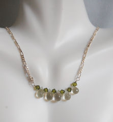 AAA,grade,green,amethyst,drop,necklace,Jewelry,Necklace,Locket,green_amethyst,sterling_silver,swarovski,crystal,briolette,holiday,feminine,ferozasjewelery,cyber_monday_sale,amethyst_necklace,green_necklace,green_jewelry,cyber_monday_etsy,green amethyst,sterling silver,swarovski bicone