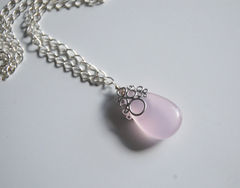 Baby,pink,Chalcedony,Pendant,necklace,Jewelry,Necklace,Locket,chalcedony_necklace,chalcedony_pendant,pink_pendant,pink_necklace,unique_necklace,wedding_jewelry,bridal_jewelry,bridal_gift,bridesmads_gift,bridesmads_earrings,feminine_jewelry,ohcanadateam,cyber_monday_etsy,pink chalcedony,silver