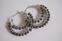 Gorgeous Mystic Pyrite  double hoop earrings - product images 4 of 4