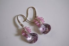 AAA Pink Amethyst  and rose quartz earrings - product images 2 of 4