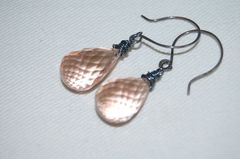 Ligth peach crystal briolette earrings - product images 3 of 4
