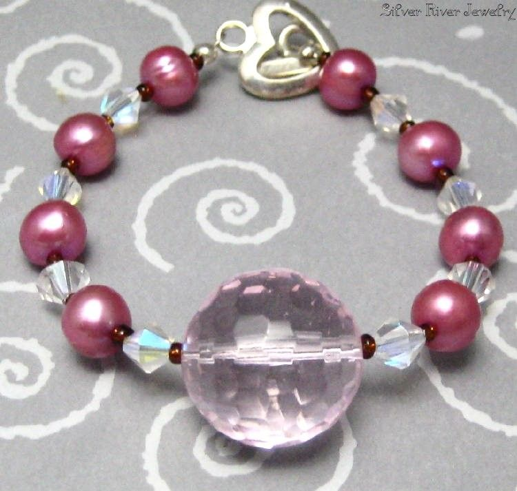 Pink Crystal and Pearls Bracelets - product images  of