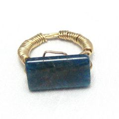 Marine,Blue,Apatite,Gold,Filled,Wire,Wrapped,Ring,Size,6,Jewelry,Stone,wire_wrapped,gold_filled_wire,blue_apatite,marine_blue,hand_crafted,hand_made,one_of_a_kind_ooak,castteam,elegant,sophisticated,beautiful,marine_blue_apatite