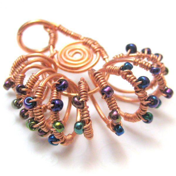 Nautilus Shell Handmade Wire Wrapped Copper Pendant - product images  of