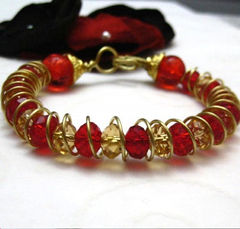 Artisan,Brass,Cuff,Bracelet,Ruby,Red,Gold,Yellow,Crystals,Jewelry,Bangle,handmade_bracelet,crystal_bracelet,bangle_bracelet,yellow,gold,ruby_red,cuff_bracelet,beads_team,tasrete_team,wire_wrapped,formal,dressy,crystals,brass_wire