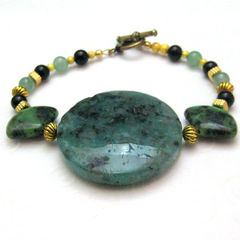 Green,and,Gold,Handmade,Bracelet,Jasper,Onyx,Egyptian,Turquoise,Jewelry,Stone,Handmade_bracelet,stone,dalmation_jasper,Egyptian_turquoise,green,black_onyx,gold,serpentint,beadsteam,rustic,organic,bold,chunky,jasper,turquoise,serpentine,gold_plated_finidngs